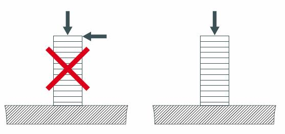Image showing how to mount a multilayer piezoelectric actuators